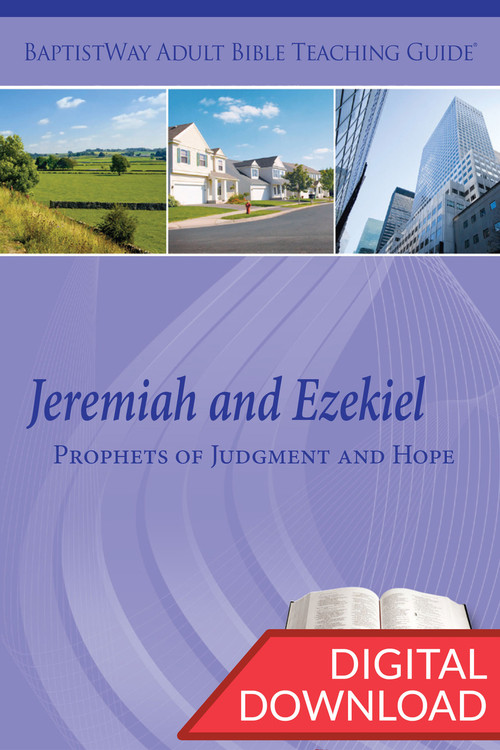 Digital teaching guide on Bible study of Jeremiah and Ezekiel complete with Bible commentary and 2 sets of teaching plans. 8 lessons on Jeremiah & 5 lessons on Ezekiel; PDF; 167 pages.
