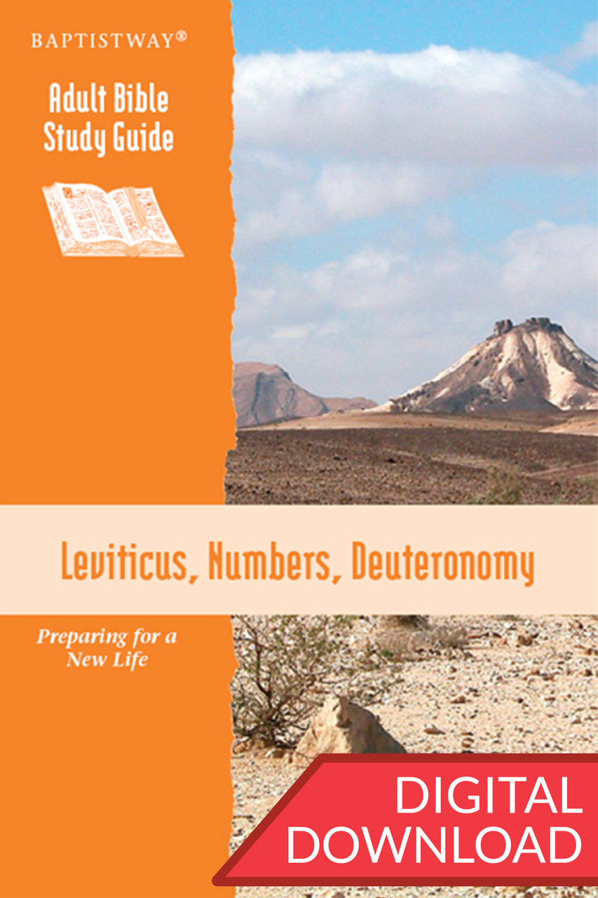 Digital Bible study of Leviticus, Numbers, and Deuteronomy. 13 lessons; PDF;