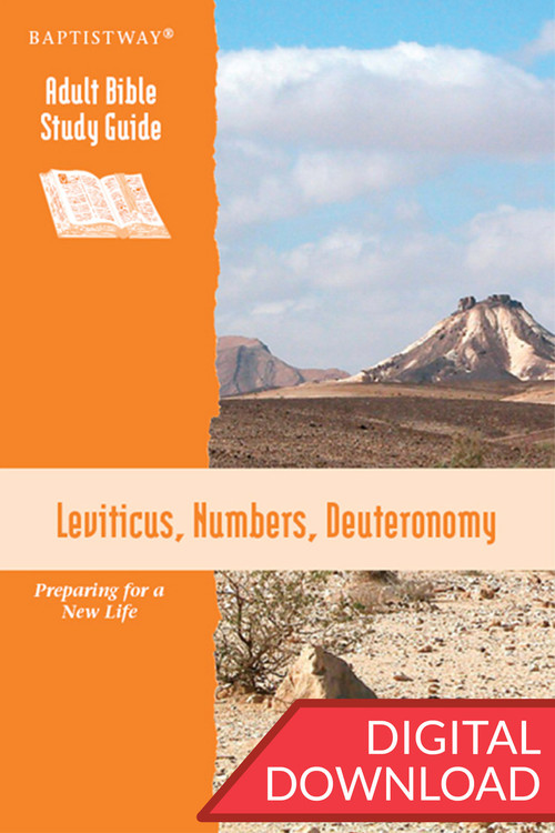 Digital Bible study of Leviticus, Numbers, and Deuteronomy. 13 lessons; PDF; 147 pages.