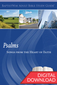 Digital Bible study on Psalms with devotional commentary and questions. 13 lessons; PDF; 150 pages.