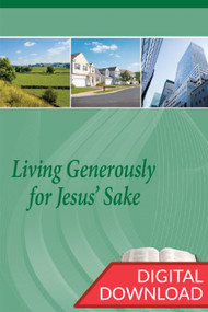 Living Generously for Jesus' Sake - Premium Teaching Plans