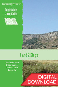 Digital Bible study guide on 1 & 2 Kings. 13 lessons; PDF; 162 pages