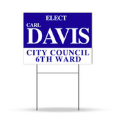 One Color Yard Signs