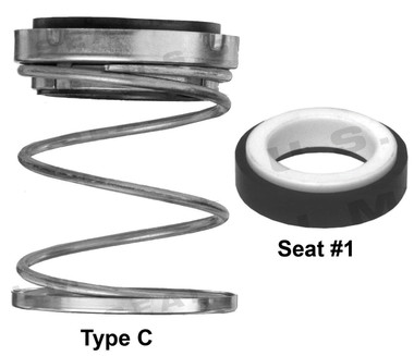 Pump Seal, Shaft Size - 0.500, .937 OD Seal Head, Type C, BCF-F.