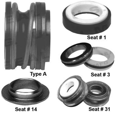 Pump Seal, Shaft Size - 0.625, 1.218 OD Seal Head, Type A, 1.250 OD Mating Ring, BMFJF.