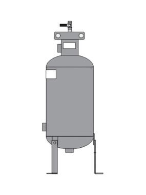 Elbi FB1-200 Bypass FeederS 1 Gal Flat Bottom