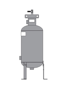 Elbi DB1-300 CHEMICAL Bypass Feeder 1 Gal Dome Bottom
