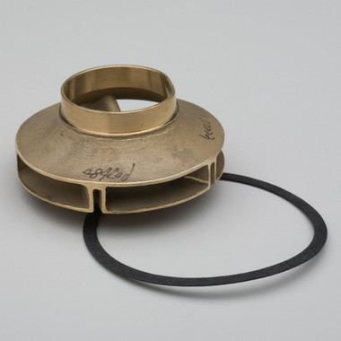 """Bell & Gossett 118431 Brass Impeller 3-7/8"""" outside diameter, For B&G Series LD3 and 2-1/2 booster Pumps. Impellers are installed on the end of the Pump Shaft, which spins the Impeller in turn Pumping Water, or other liquid, throughout your System."""