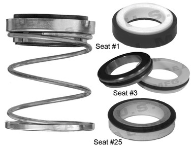 Pump Seal, Shaft Size 1.250, 1.937 OD Seal Head, Type C, 1.875 OD Mating Ring, BCFKF