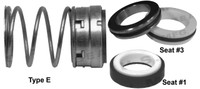 Pump Seal, Shaft Size 1.125, 1.625 OD Seal Head, Type E, 1.750 OD Mating Ring, BCFKF.