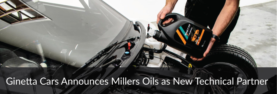 Ginetta Cars Announces Millers Oils as new Technical Partner