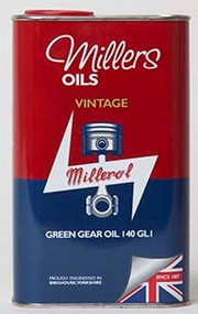 Millers Oils VINTAGE GREEN GEAR OIL 140 GL1 - 1 Liter