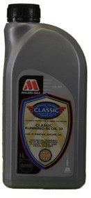 SAE 30 running in oil for classic engines. Highest quality solvent refined mineral base stocks treated with specially designed additive system.
