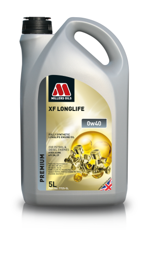 Millers Oils XF Long Life 0W40 fully synthetic longlife engine oil.  7725