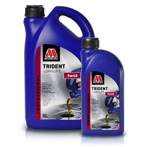 Millers Oils TRIDENT LONGLIFE 5w40 Fully Synthetic Engine Oil for Professional