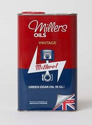 Millers Oils VINTAGE GREEN GEAR OIL 90 GL1