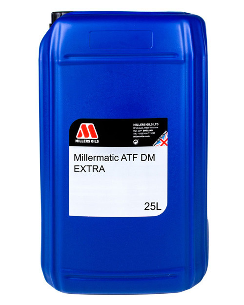 Miller Oils MILLERMATIC ATF DM 5548 25 Liter Jug. Premium Automatic Transmission Fluid technology blended into selected synthetic base fluids.
