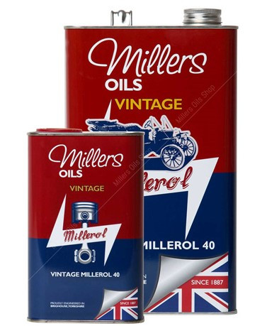VINTAGE MILLEROL 40 is a non-detergent monograde mineral engine oil. It is specifically engineered for vintage cars with a strainer or basic filtration systems. It is formulated with ZDDP (zinc/phosphorus).