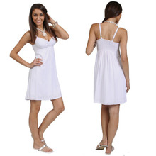 White Mini Dress / Short Dress - Lined