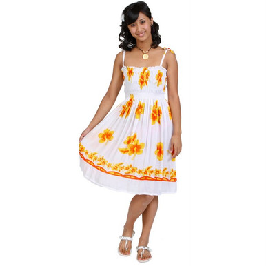 6745f520e6 ... Sundress Tube Dress Hibiscus Design. Image 1. Image 1. Click to enlarge
