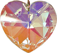 Heart 40mm Aurora Borealis (A/B) Crystal Pendant