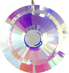 Round Prism 40mm AB Crystal Pendant