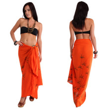 Bamboo Sarong in Orange