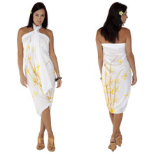 Bamboo Sarong in White