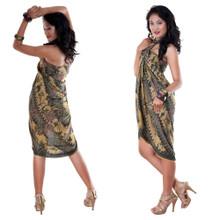 Sarong With Traditional Motif Green - Parang Rusak Style