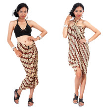 Batik Parang Rusak Style in Brown/Light-Brown