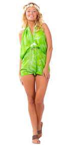 Butterfly Sarong in Lime Green - BF-10