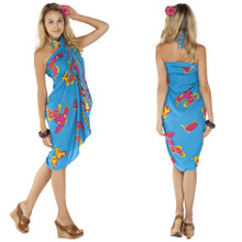 Butterfly Sarong in Blue / Multicolor
