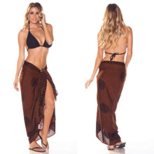 "Celtic Sarong, ""Interlace Knotwork"" Deep Brown"