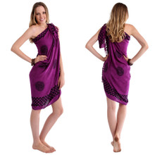 "Celtic Sarong, ""Interlace Knotwork"" Royal Purple"