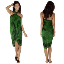 "Celtic Sarong, ""Interlace Knotwork"" Emerald Green"