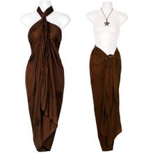 Embroidered Sarong in Brown