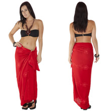 Embroidered Sarong in Red