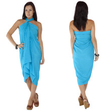 "Embroidered Sarong ""Turquoise"""