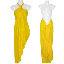 "Embroidered Sarong ""Yellow"""