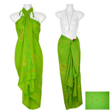 "Sarong w/ Triple Embroidery ""Light Green"""