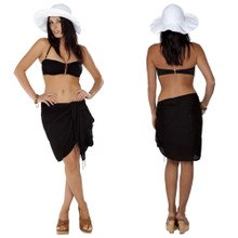 "Sequined / Embroidered / Beaded Half Sarong ""Black"""