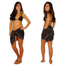 Charcoal Gray Smoked Half Sarong