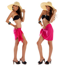 Solid Colored Half Sarong in Hot Pink