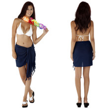 Solid Colored Half Sarong in Navy Blue