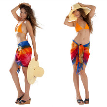 Diamond Rainbow Tie Dye Half Sarong / Mini Sarong Pareo