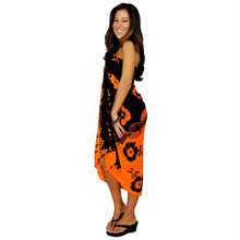 "Hibiscus Sarong ""Orange / Yellow"""