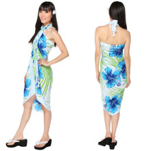 "Hawaiian Sarong ""Blues w/ Greens"""