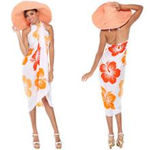 Hawaiian Sarong in White/Orange