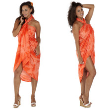 Orange Smoked Plus Size Sarong