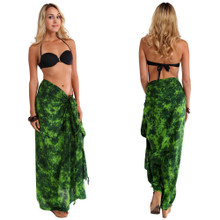 Sarong in Lime / Dark Green Smoked